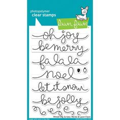 Lawn Fawn Winter Christmas Big Scripty Words by ThePlaidDaisyShop