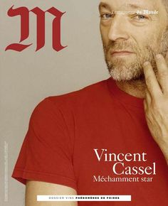 Vincent Cassel for M (France) Vincent Cassel, Read Magazines, French People, Fashion Cover, Men's Fashion, Picture Albums, Magazine Editorial, S Star, Celebrity Pictures