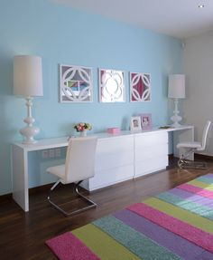 Escritorio Recamara Infantil Casa GL : Dormitorios infantiles modernos de VICTORIA PLASENCIA INTERIORISMO