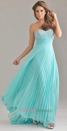 Tiffany blue brides maid dress