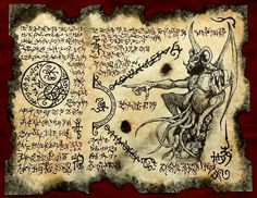 Cthulhu larp BULL DEMON Necronomicon fragment Scroll by zarono