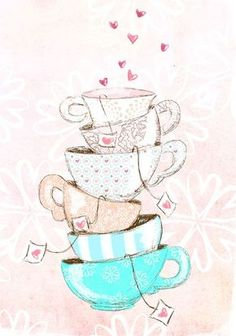 Find images and videos about pink, wallpaper and tea on We Heart It - the app to get lost in what you love. Cute Wallpapers, Wallpaper Backgrounds, Iphone Wallpaper, Tee Kunst, Buch Design, Photo Images, Illustration Mode, Make Pictures, Tea Art