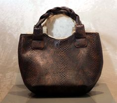 Unique, high quality, snake printed leather bag, available on ebay   http://www.ebay.co.uk/itm/171697093560?ssPageName=STRK:MESELX:IT&_trksid=p3984.m1555.l2649