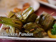 Chicken pandan is a very simple chicken dish but it looks like you have ordered it on an authentic Thai restaurant. Its because the chicken meat is marinated in Filipino Dishes, Thai Dishes, Filipino Recipes, Food Dishes, Filipino Food, Debone Chicken Thigh, Baked Chicken, Chicken Recipes, Broccoli Pasta