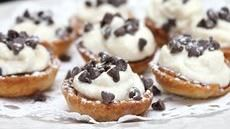 Mini Cannoli Cream Pastry Cups or use Phyllo Cups. Could brush insides with chocolate or dip in chocolate