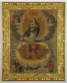 Anonymous, Immaculate Conception with Fathers of the Church, 1675, oil on canvas, 176 x 133 cm., Iglesia Museo de Santa Clara, Bogotá.