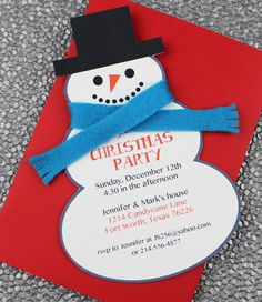 DIY Snowman Christmas Party Invitation template from #DownloadandPrint. http://www.downloadandprint.com/templates/christmas-invitation-templates-with-snowman/