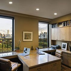 Double Desk Design, Pictures, Remodel, Decor and Ideas