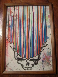 Grateful Dead Dripping Watercolor Steal by MissysArtsnAntiques