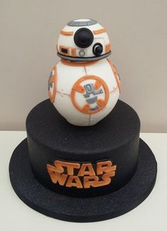 Star Wars - Cake by The Buttercream Pantry Star Wars Birthday, Star Wars Party, 5th Birthday, Birthday Ideas, Cake University, Bb8 Cake, Star Trek Cake, Little Boy Cakes, Fondant