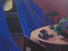"""""""Coffee at Midnight"""" ( left side of painting.)"""
