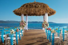 We're loving the blue accents in this #destinationwedding setup at Now Amber! #UnlimitedRomance