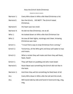 how the grinch stole christmas short play script christmaswalls co