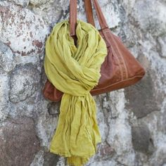 Mustard Linen Summer Scarf Garza. Dear Universe. I'd like this too please.