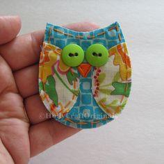 Owl Applique, Owl Scrapbooking Embellishment, Fabric Owl, Owl Embellishment, Scrap Fabric Owl, Scrapbook Owl