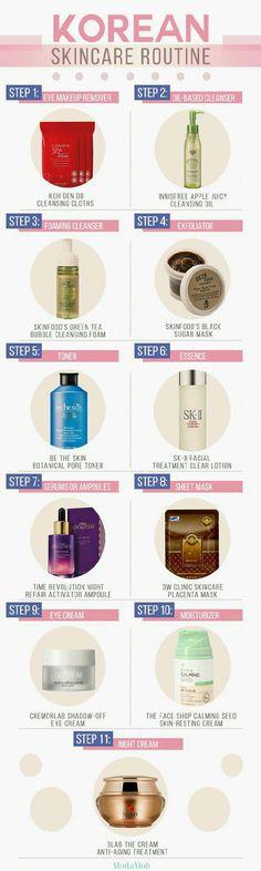 Korean Skin Care Routine #Beauty #Trusper #Tip