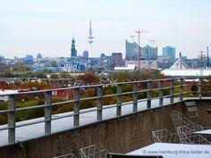Aussicht vom Café Vju auf dem Bunker in Hamburg Wilhelmsburg http://www.hamburg-fotos-bilder.de