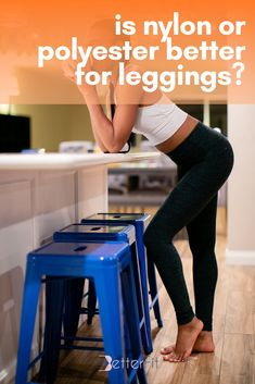 Nylon and polyester are among the two most commonly used fabrics for leggings. We share different factors and advantages of each fabric for you to find out which best suits your needs. #thebetterfit #leggings #nylonleggings #polyesterleggings High Intensity Workout, Love Handles, Muffin Top, Best Leggings, Workout Outfits, Body Heat, Business Attire, Leggings Fashion, Cool Suits