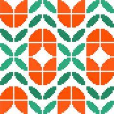 Retro tulips cross stitch pattern. Modern от crossstitchtheline