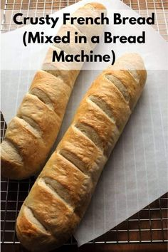 2 loaves of crusty french bread (mixed in a bread machine) - Bread Maker - Ideas of Bread Maker French Bread Bread Machine, Crusty French Bread Recipe, Bread Machine Mixes, Easy Bread Machine Recipes, Best Bread Machine, Homemade French Bread, Dutch Oven Bread, Bread Maker Recipes, Bread Mix