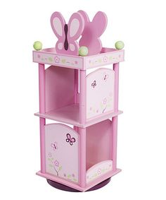 Take a look at this Sugar Plum Revolving Bookcase by Levels Of Discovery on #zulily today!  This would match her bedroom perfectly!  $109.99
