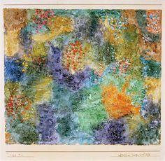 Bild:  Paul Klee - noerdlicher Garten in Bluete,