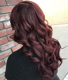 Exquisite Burgundy Tinted Brown Hair