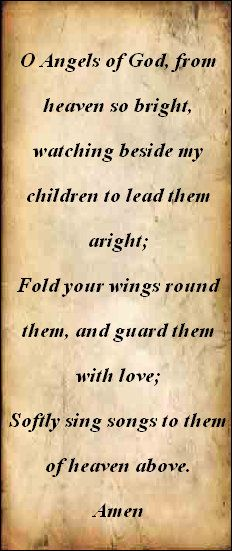 Prayer to guardian angel
