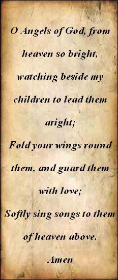 Prayer to child's Guardian Angel