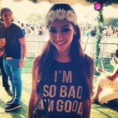 Melanie iglesias - i love the shirt and the flower crown!