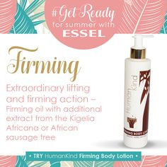 with Use a lotion with extraordinary lifting and firming action - firming oil with additional extract from the Kigali Africana or African sausage tree. TRY HumanKind Firming Body Lotion Body Lotion, Sausage, Action, Skin Care, Personal Care, How To Get, Oil, Summer, Products
