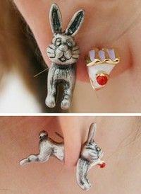 ahhh bunny earrings: Want
