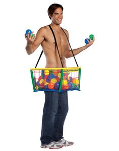 this mens funny ball pit costume is an adult humor costume for halloween get this ball pit costume and see what happens
