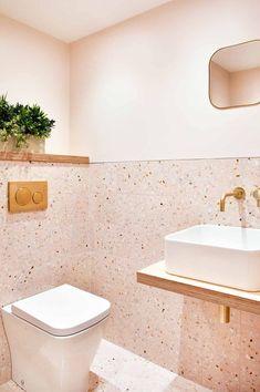 Images of terrazzo designs and projects Mosaic factory - Wedding Ideas Gold Bathroom, Bathroom Renos, Bathroom Flooring, Bathroom Renovations, Home Remodeling, Bathroom Ideas, Remodel Bathroom, Bathroom Organization, Bathroom Small