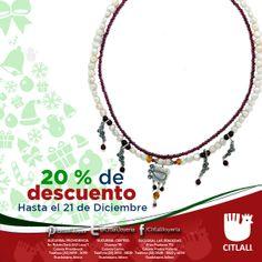 En Citlali tenemos el 20% de descuento en todas nuestras sucursales y tienda en línea hasta el 21 de diciembre! Visitanos www.joyascitlali.com
