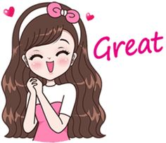 Boobib Beautiful Girl – LINE stickers Love Cartoon Couple, Cute Cartoon Pictures, Cute Cartoon Girl, Cute Love Pictures, Cartoon Girl Drawing, Anime Stickers, Love Stickers, Cool Pictures For Wallpaper, Animated Emoticons