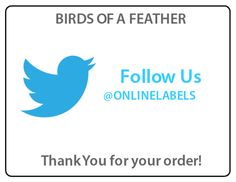 Twitter Thank You Shipping Label - Build Your #Twitter followers and say thanks at the same time.  Customized this template now. #labels