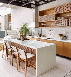 37 best stone wall ideas for rustic kitchen design 7 Barn Kitchen, Rustic Kitchen Design, Best Kitchen Designs, Home Decor Kitchen, Kitchen Interior, Room Kitchen, Log Home Kitchens, Modern Home Interior Design, Küchen Design