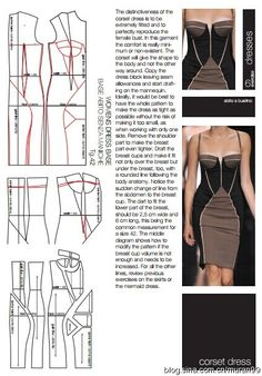 tight dress and corset making instructions Mod@ en Line Short Dress Beach Cover Up Figure Hugging Long Sleeved Dress Little Black Dress For Travel Short Dress Myntra Beginning to Sew Modest Clothing Patterns – Recommendations from the Experts Dress Sewing Patterns, Sewing Patterns Free, Clothing Patterns, Pattern Sewing, Fashion Sewing, Diy Fashion, Couture Fashion, Sewing Clothes, Diy Clothes