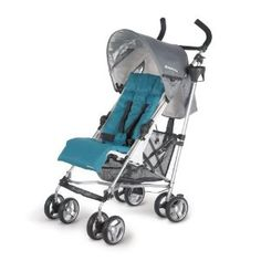 Amazon.com: UPPAbaby G-Luxe Stroller, Sebby/Teal: Baby it is the lightest stroller out there and it reclines! Nice color choices. Folds up and stands up on its own.