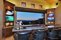 1. Old World Estate - traditional - family room - san diego - Elevation Architectural Studios