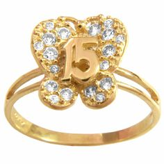 Anillo 15 años mariposa 15 Rings, 15th Birthday, Kawaii, Moda Femenina, Hairstyles, Accessories, Women, Sweet 15, Kawaii Cute