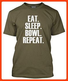 Eat Sleep Bowl Repeat T Shirt Bowling Bowls Player Gift Various Colours and Sizes Tee Mens T-Shirt (*Partner Link)
