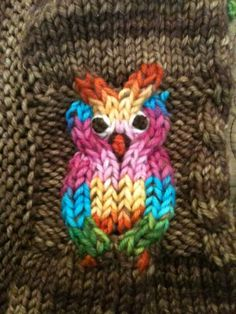 Owl Duplicate Stitch By Beth Of Sweet Monkey Baby Photo:  This Photo was uploaded by SpindleSpun. Find other Owl Duplicate Stitch By Beth Of Sweet Monkey...