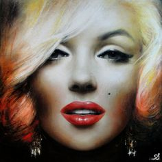 Inspirational Urban Paintings by Georges Armand - The Wondrous Marilyn Monroe Life, Urban Painting, Beautiful Goddess, Beautiful Women, Great Works Of Art, Rare Images, City Art, Face Art, Contemporary Artists
