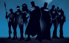 Superhero silhouettes wallpaper