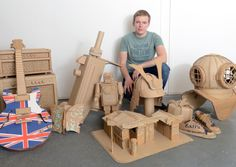 Mark O'Brien, the cardboard artsit from Golborne