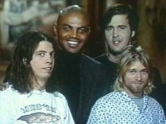 """The """"Nirvana Meeting Charles Barkley"""" situation: oh god their faces are priceless"""