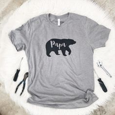 Papa bear shirt- Father's Day gift- new dad gift