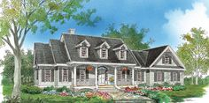 Default Image of The Lewisville - House Plan Number 912/NEEDS REMODIF. BUT COULD WORK-2400sq. ft. remod-master bedrm/enclose front porch